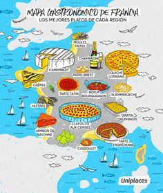 Regional food map infographic of France Food Map, Food Food, French Classroom, French Lessons, Spanish Lessons, Learning Spanish, Teaching French, French Teacher, French Food