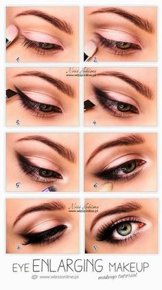 Pink Eye Shadows with Black Liners