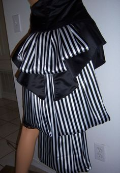 ... Striped Circus Caberet Steampunk Victorian Cincher Bustle Skirt. $55