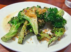 Most memorable dish at NOPA, SF: Grilled broccoli with lemon anchovy dressing and breadcrumbs.