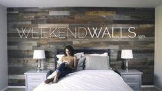 Weekend Walls Peel and Stick Reclaimed Wood Paneling! Update your space in as little as a weekend!