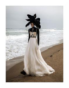 Balconette French lace bodice with handmade flowers. Gathered silk skirt.  @letitialeleofficial #spring2020 #bridalgown #campaign Creative Direction & Photographer: Tibi Clenci (@tibiclenci) Make-up: Genny Matea (@gennymatea) Hair: Adonis Enache (@adonisenache) Styling: Cristina Craciun (@cristinacraciun) Model: Ioni Guraliuc (@ioniguraliuc), One Models Romania (@onemodelsromania)