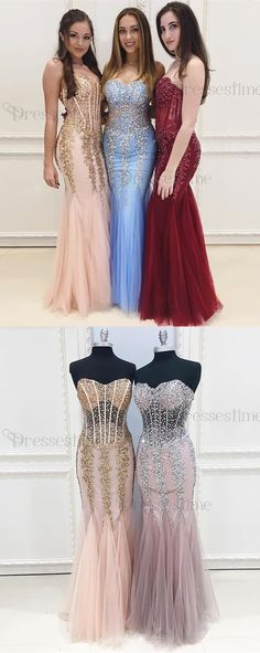 mermaid prom party dresses, chic sweetheart evening gowns, fashion sparkle formal party dresses.