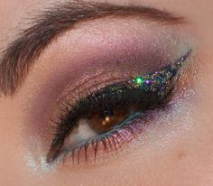 """MAKEUP FANCY """"Synergy"""" eye look using Darling Girl Cosmetics and NYX Candy Glitter Liners"""