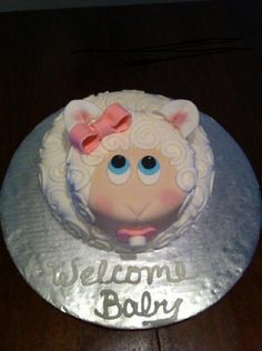 Lamb cake for baby shower
