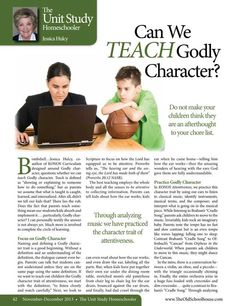 As a parent, do you assume that what is taught is caught, learned, and internalized? The answer is not always yes. The Old Schoolhouse Magazine - November 2013 - Page 42-43