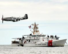 The U.S. Coast Guard Cutter Bruckenthal supervises the 2021 Bethpage Air Show near Jones Beach, New York as a flight demonstration flyover occurs. Patriotic Poems, Coast Guard Cutter, Jones Beach, Air Show, United States, America, York, Usa