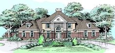 Southern Colonial Style House Plans - 4530 Square Foot Home , 2 Story, 5 Bedroom and 5 Bath, Master Private Retreat. Nanny Retreat/Private Office, Basement Option for Emergency Shelter/Bedrooms 3 Garage Stalls by Monster House Plans - Plan 15-302