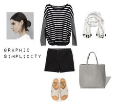 """""""Graphic Simplicity"""" by bluehydrangea ❤ liked on Polyvore featuring Madewell, Boden, Charlotte Stone and Sole Society"""