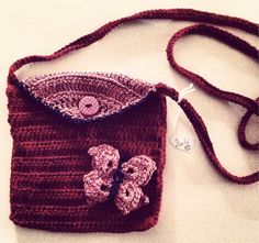 Borsetta in cotone all' uncinetto by LooplaCrochet on Etsy