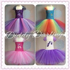 Rainbow Dash Tutu Kleid. Handgefertigte Tutu von DiddyDarlings