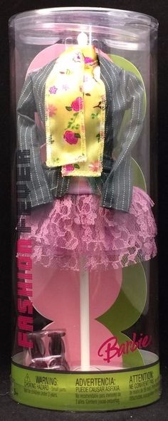 2005 BARBIE FASHION FEVER OUTFIT LACY RUFFLED SKIRT JACKET SCARF SHOES NRFB #Mattel