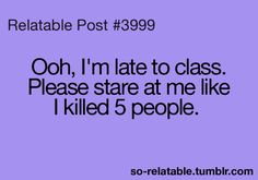 This is why I hate being late:P