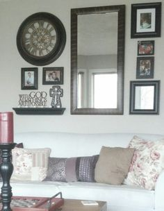Large Living Room Entryway - 3 Living Room Wall Decor Over Couch Large Mirrors Interior Design 71 Living Room Clocks, Living Room Mirrors, Living Room Decor, Living Rooms, Wall Mirrors, Rooms Home Decor, Room Wall Decor, Mirror Over Couch, Just In Case