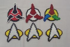 Star Trek Magnets perler beads by HDorsettcase on deviantART