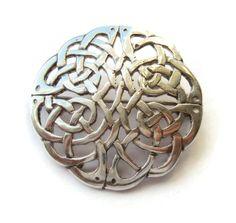 Vintage Celtic knotwork sterling silver brooch, Edinburgh Scotland 1991 hallmark, traditional Scottish Irish Cornish interlaced openwork. https://www.etsy.com/listing/261619433/vintage-celtic-knotwork-sterling-silver