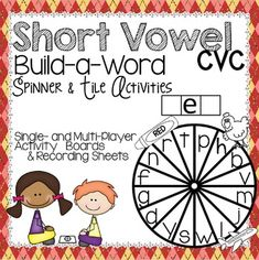 39 pages of CVC spinner & tile activities for practice with each short vowel (tiles included). Cheers!