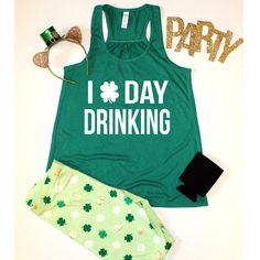 I love day drinking Racerback Tank Top, XS-2XL, St Patricks Day Shirt, Drinking Tank Top, St Patrick's Day, St Pattys Day Shirt by ShopatBash on Etsy