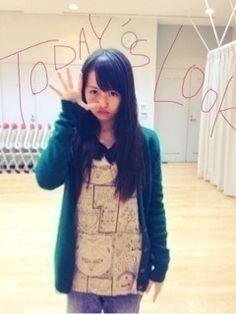 乃木坂46 (nogizaka46) baby face ~ ito marika ~ today's look ~ comic clothes? ^^;