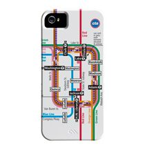CTAGifts.com Loop Map iPhone Case