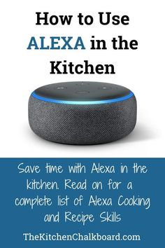 Want to use Alexa in the kitchen? Read on to learn all of Alexa's recipe skills plus find a complete list of Alexa cooking skills. Smart Home Technology, Technology Gadgets, Alexa Tricks, Alexa Commands, Amazon Alexa Skills, Alexa Device, Alexa Speaker, 1920s Party, 1920s Wedding