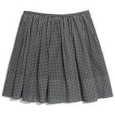 MADEWELL Gingham Shirred Skirt ($50) ❤ liked on Polyvore featuring skirts, mini skirts, bottoms, saias, shorts and skirts, true black, black ruched skirt, checkerboard skirt, black gathered skirt and black skirt