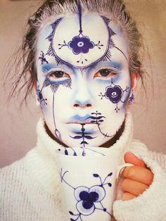 Blue art face