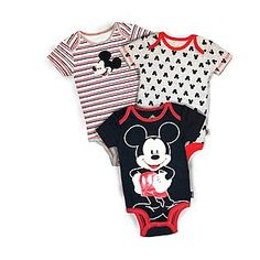 Disney Baby- -Mickey Mouse Infant Boy's 3-Pack Bodysuits