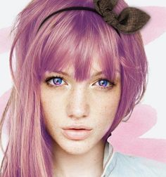 Pink Ice Luna Color Contact Lenses