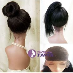 Full Lace Wig 100% Real Indian Remy Human Hair Silky Straight With Baby Hair #Tanya #FullWig