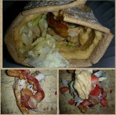Turkey, bacon, hummus wrap