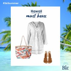Searching for summer? Hawaii is the perfect destination!  Explore its exotic scenery with your favourite Ble combo –tunic, sandals, bag. Find it here www.ble-shop.com