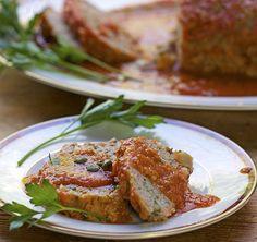 Pastel de carne de pavo a la italiana