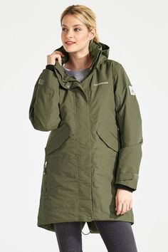 Tanja Women's Parka - Didriksons Raincoat, Style, Fashion, Fashion Styles, Rain Jacket, Swag, Moda, Fashion Illustrations