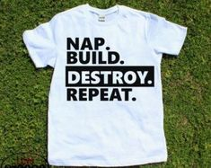 This shirt is a great idea for a little troublemaker!