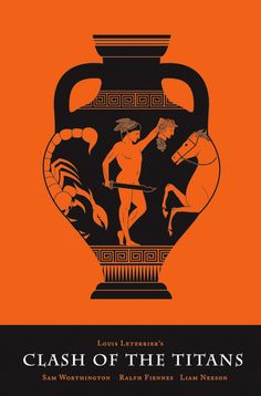 Clash of the Titans (2010) ~ Minimal Movie Poster by Olly Moss #amusementphile