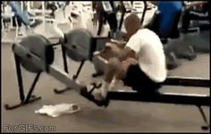 Plus, do you really want to end up looking like this in front of everyone? | 21 Reasons Why Exercising Is A Terrible Idea Wtf Funny, Hilarious, Crazy Funny, Rowing Memes, Gym Humour, Humor, Funny Incidents, Gym Fail, Funny Video Clips