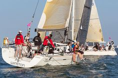 The Beneteau First 40 yacht 'Winston' competing in the Round the Island race.