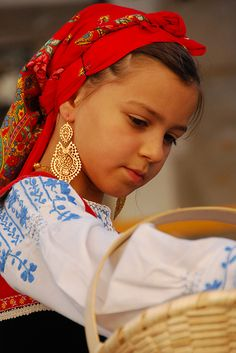 """""""Menina bonita"""", by Grant Dickinson.  In August every year the town of Viana do Castelo, Portugal celebrates the Festival of Nossa Senhora d'Agonia. This is one of the beautiful girls of the Minho region dressed in traditional costume."""