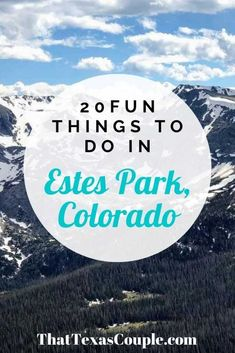 20 Fun Things to do in Estes Park Colorado - That Texas Couple Usa Travel Guide, Travel Usa, Travel Guides, Travel Tips, Best Places To Travel, Cool Places To Visit, Estes Park Colorado, Road Trip To Colorado, Visit Usa