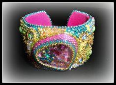 Dragon's Eye:  A Bead Embroidered Bracelet.