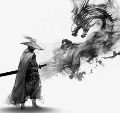 Ink free martial arts and dragon pull material PNG… Ninja Kunst, Arte Ninja, Ninja Art, Japanese Art Samurai, Japanese Artwork, Japanese Tattoo Art, Japanese Dragon, Samurai Drawing, Samurai Artwork