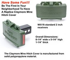 GG&G's Claymore Mine Trailer Hitch Cover will get the tailgaters attention. Have some fun with the Claymore hitch cover. Click or call for details on this great fun stuff item. Tactical Accessories, Truck Accessories, Police Gear, Bodily Injury, True To Form, Duty Gear, Camping Packing, Combat Sport, Trailer Hitch