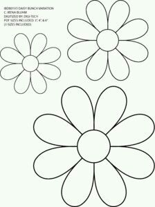 Sablona kvetiny
