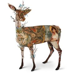 Frederique Morrel {LIFE IS A BICHE ANTIQUE} Mixed media: foam, fur, antique tapestries. Recycled embroidery.