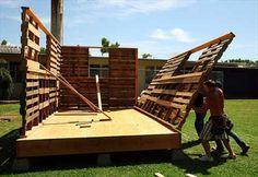 Como construir uma casa com palets de madeira