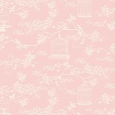 Tilda Fabric Birdcage Toile Cadet Pink 480417