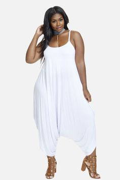 392869ef14fb Plus Size Harem Jumpsuit (womens plus size) trendy summer dresses for curvy  women.