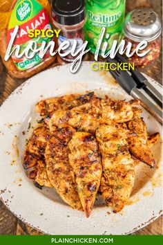 Grilled Spicy Honey Lime Chicken Tenders – seriously delicious! Chicken is marinated in only 5 ingredients – Italian dressing, lime juice, honey, chili powder, and red pepper flakes. I always double the recipe and never have any leftovers! Can use chicken tenders, breasts, thighs or drumsticks. A family favorite! Healthy Dishes, Food Dishes, Main Dishes, Easy Main Dish Recipes, Grilled Chicken Tenders, Eat More Chicken, Honey Lime Chicken, Drumstick Recipes, Spicy Honey
