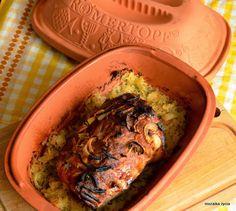 Mozaika życia: Karkówka z garnka rzymskiego na kapuście kiszonej Guacamole, Hummus, Brunch, Food And Drink, Gluten Free, Cooking, Ethnic Recipes, Dom, Dish